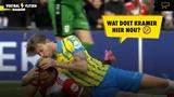 Bijzonder moment tijdens #feyrkc: Michiel Kramer kust Cyriel Dessers na duel met Feyenoord-spits