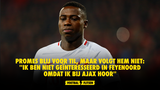 """Promes: """"Ik ben niet geïnteresseerd in Feyenoord omdat ik bij Ajax hoor"""""""