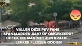 VIDEO: Hooligans Barcelona en PSV op de vuist in binnenstad