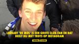 Lennart 'De mol' is een grote Club-fan en dat deelt hij met trots op Instagram
