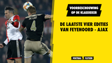 De laatste vier edities van Feyenoord - Ajax