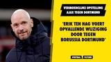 'Erik ten Hag voert opvallende wijziging door tegen Borussia Dortmund'