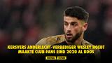 Kersvers Anderlecht-verdediger Wesley Hoedt maakte Club-fans eind 2020 al boos