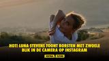 HOT! Luna Stevens toont borsten met zwoele blik in de camera op Instagram