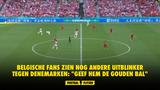 """Belgische fans zien nog andere uitblinker tegen Denemarken: """"Geef hem de gouden bal"""""""