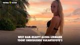 West Ham-beauty Alisha Lehmann toont ondeugende vakantiefoto's