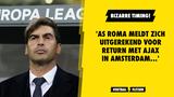 'AS Roma meldt zich uitgerekend voor return tegen Ajax in Amsterdam'