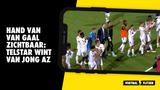 Hand van Van Gaal zichtbaar: Telstar wint van voormalig koploper Jong AZ (1-0)