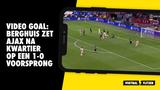 VIDEO GOAL: Berghuis opent de score voor Ajax tegen Besiktas