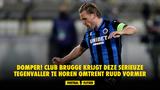 DOMPER! Club Brugge krijgt deze serieuze tegenvaller te horen omtrent Ruud Vormer