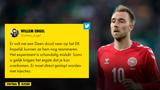 """Willem Engel na 'walgelijke tweet' over Christian Eriksen kapotgemaakt: """"Jij bent ziek in je hoofd"""""""