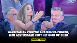 Gal Refaelov verwent Anderlecht-publiek, man achter haar heeft het goed op beeld