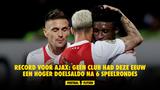 Record voor Ajax: geen club had deze eeuw een hoger doelsaldo na 6 speelrondes