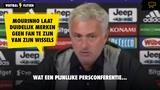 Mourinho laat na Juventus-uit wel héél duidelijk merken dat hij geen fan is van zijn wisselspelers...