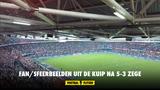 Fanbeelden uit de Kuip na 5-3 zege Feyenoord tegen NEC
