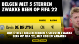JUIST? Deze Belgen hebben 5 sterren zwakke been op FIFA 22, met KDB en Vanaken