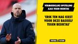 Vermoedelijke opstelling Ajax tegen Besiktas