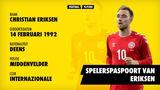 Spelerspaspoort Christian Eriksen (profiel)