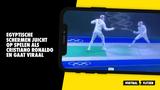 Gezien op de Olympische Spelen: Egyptische schermer juicht als Cristiano Ronaldo na overwinning