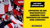 Ajax straft supporters en deelt 25 stadionverboden uit
