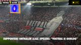 """Supporters onthalen Ajax-spelers: """"Voetbal is oorlog"""""""