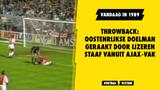 Throwback: Oostenrijkse doelman geraakt door ijzeren staaf vanuit Ajax-vak