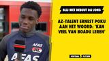 AZ-talent Ernest Poku aan het woord: 'Kan veel van Boadu leren'