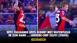 WAT? Italiaanse spits scoort knappe goal met waterflesje in zijn hand (VIDEO)