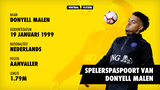 Spelerspaspoort Donyell Malen (profiel)