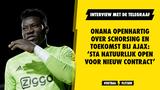 Onana openhartig over schorsing en toekomst bij Ajax: 'Sta natuurlijk open voor nieuw contract'