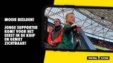 Geweldige beelden: jonge Feyenoord-supporter komt voor het eerst in De Kuip