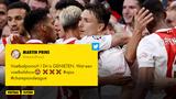 """Ajax-supporters genieten volop: """"Wat een voetbalshow"""""""