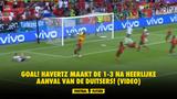 GOAL! Havertz maakt de 1-3 na heerlijke aanval van de Duitsers! (VIDEO)