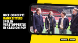 VIDEO: Bankzitters spelen verstoppertje in stadion PSV