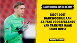 Bizot doet dankwoordje aan AZ-fans voorafgaande van transfer naar Stade Brest